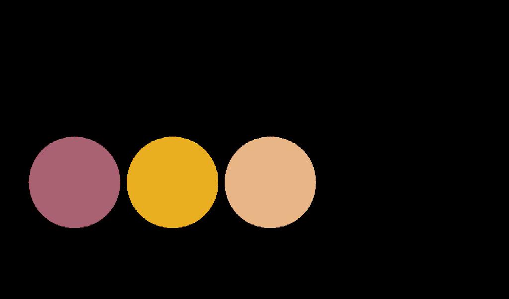 """Loggan för ungasjourer.se. Texten: """"ungasjourer.se"""" och tre färgade cirklar."""